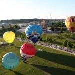 Explore the city in a different way: air balloon flight above Vilnius.